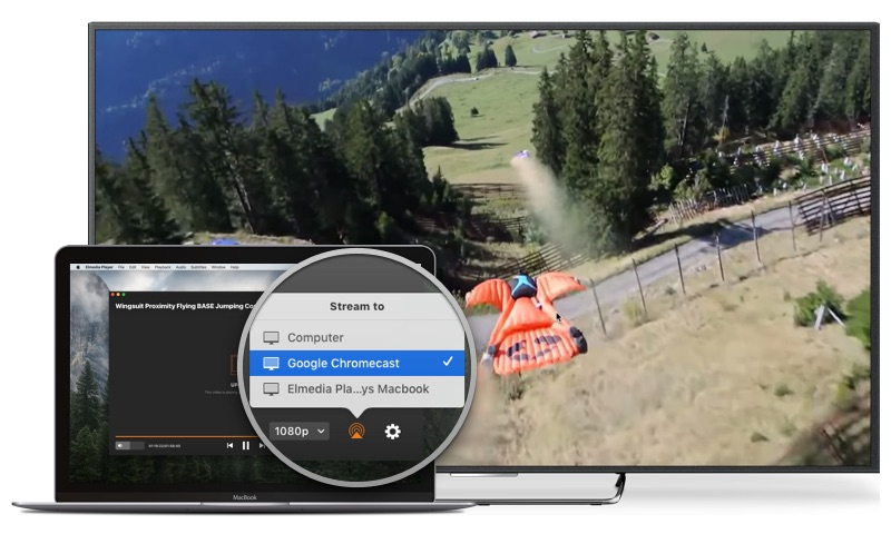 Stream video from Mac to Chromecast