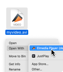 How to open AVI files on Mac